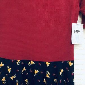 LuLaRoe Dresses - LuLaRoe Nicole XL Red Black Floral Pleated Dress